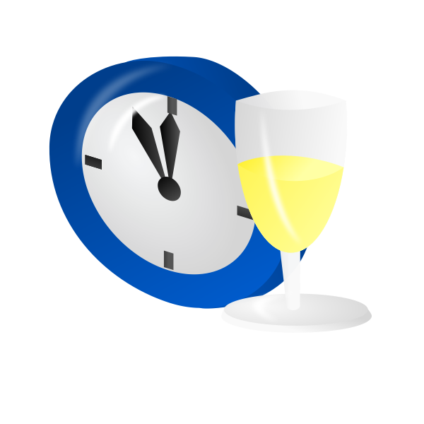 Time for a drink vector illustration