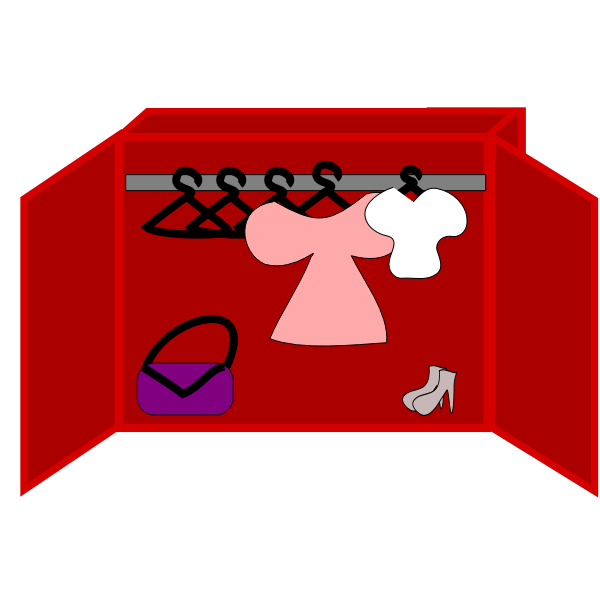 Ladies cartoon closet vector image