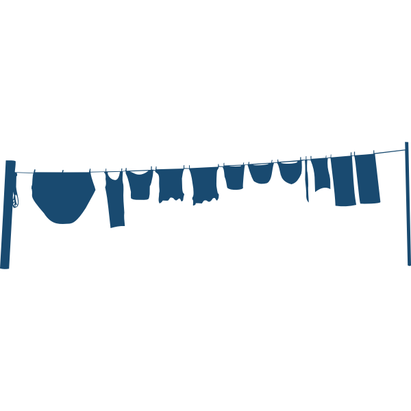 Clothes line silhouette vector image