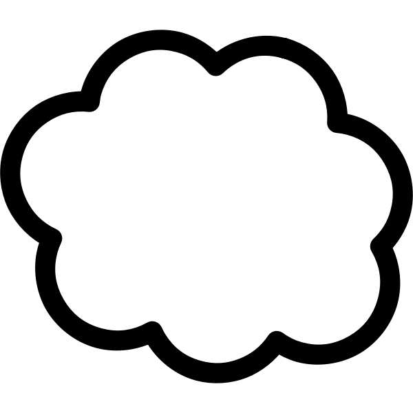 Cloud vector graphics