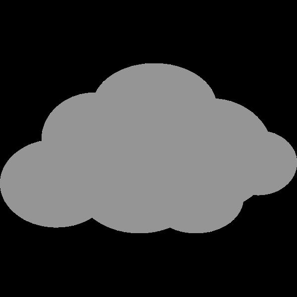 Simple grey cloud icon vector image