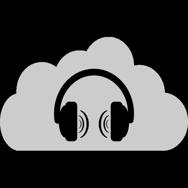 Cloud music vector illustration