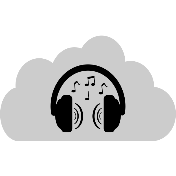 Cloud music storage vector image