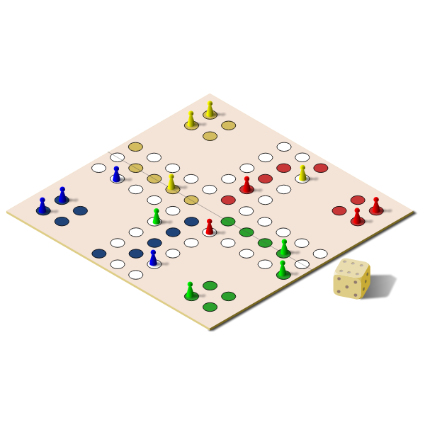 Vector illustration of ludo board game