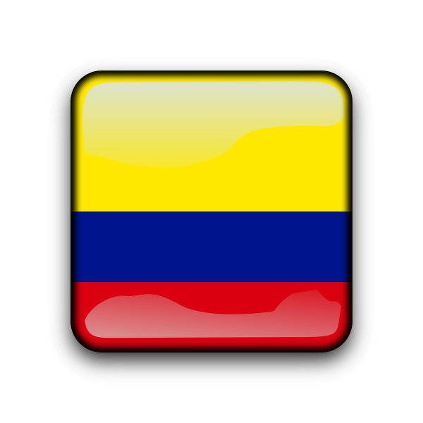 Colombia glossy button vector