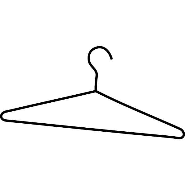 Coat hanger vector illustration