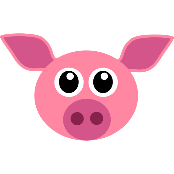 Vector image of funny piglet face