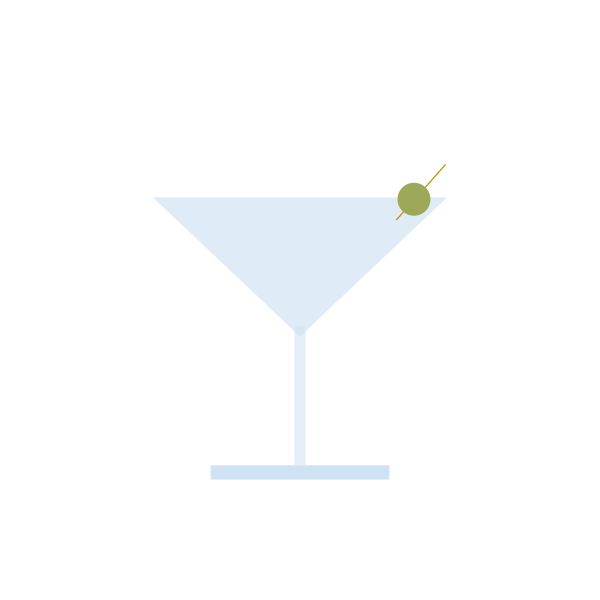 Cocktail with olive