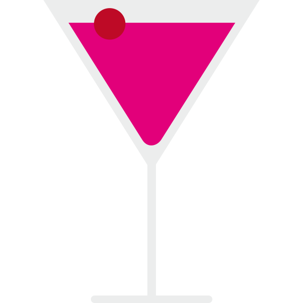 Vector illustration of a pink cocktail
