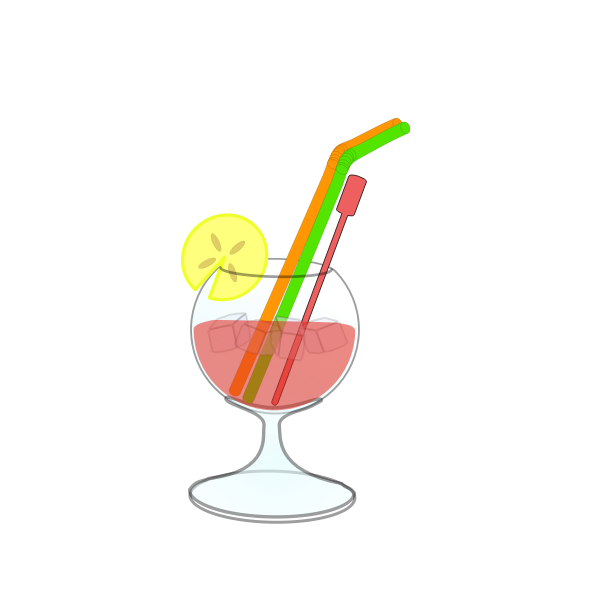 Vector drawing of cocktail in glass