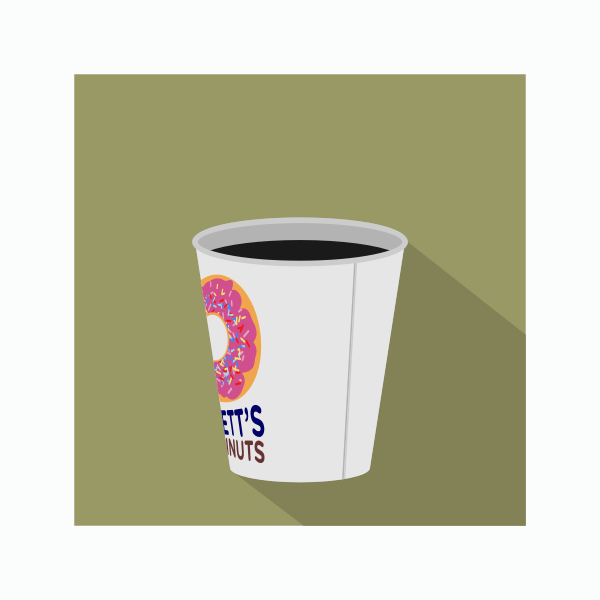 Vector clip art of takeaway coffee in cup
