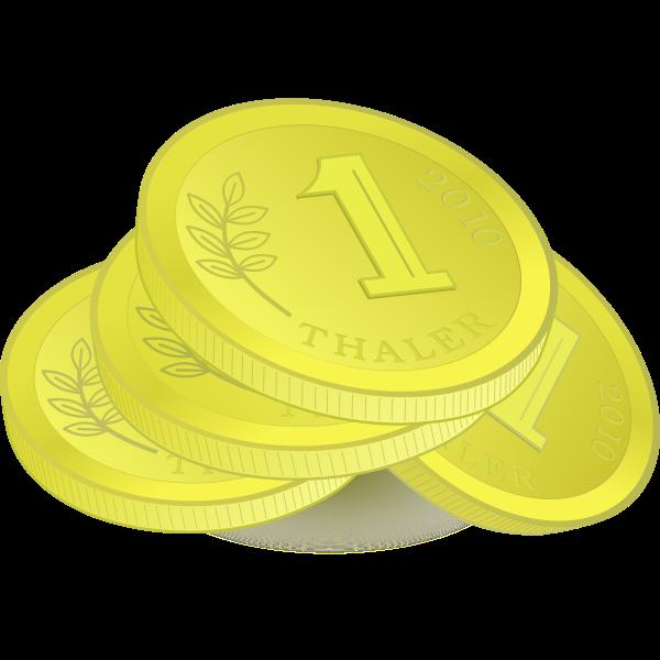 Pile of Golden Coins Vector