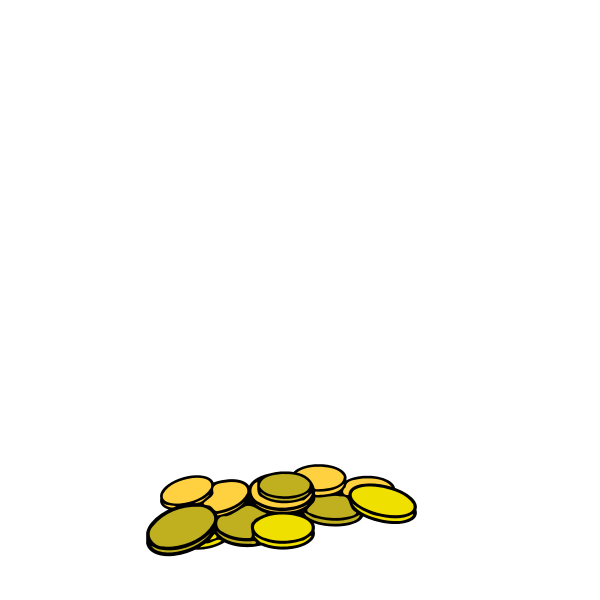 Bunch of coins vector illustration