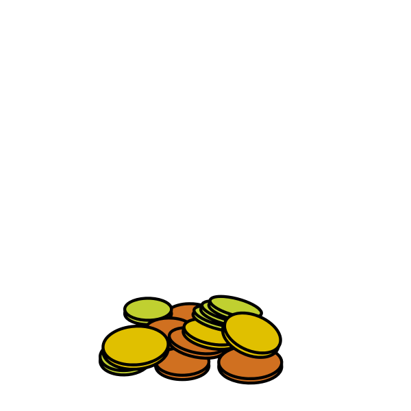 Vector image of bunch of coins