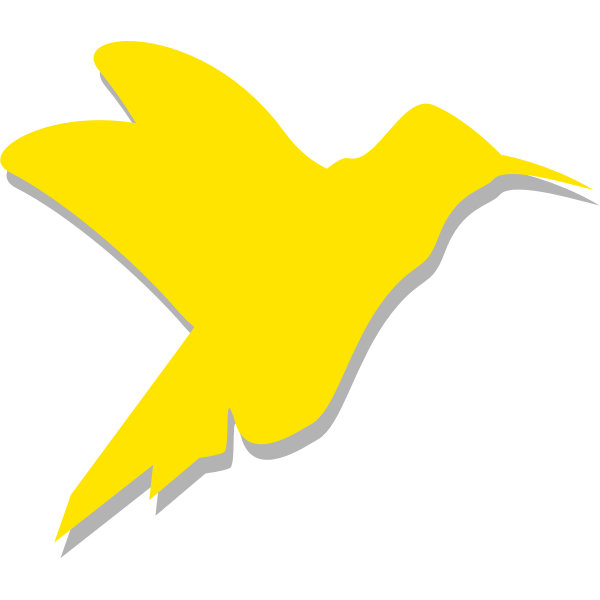 Silhouette vector drawing of colibri