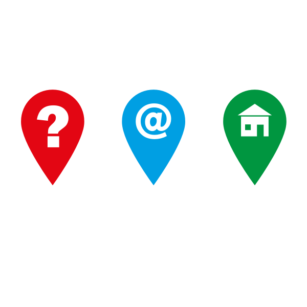 Vector illustration of web design location links and icons