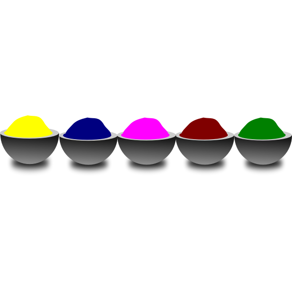 Colorful bowls vector illustration