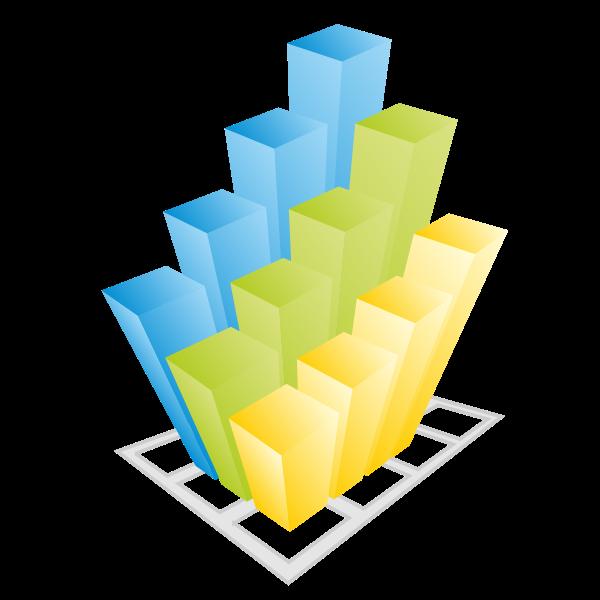 Business 3d Vector Graph