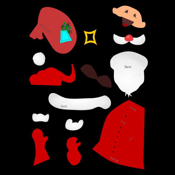 Santa Claus handicraft sheet