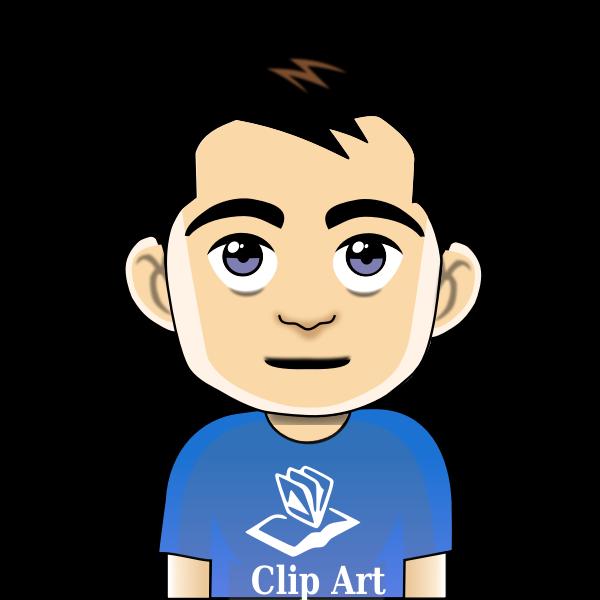 Comic boy avatar vector graphics