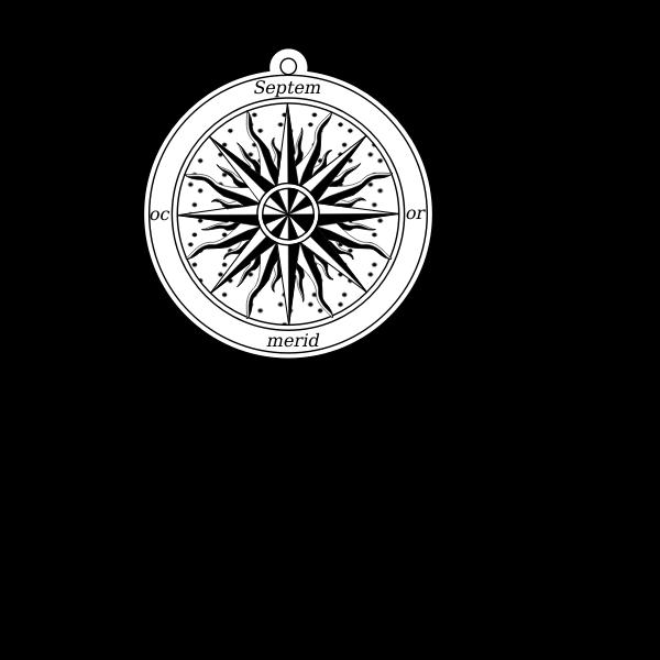 Rose retro compass