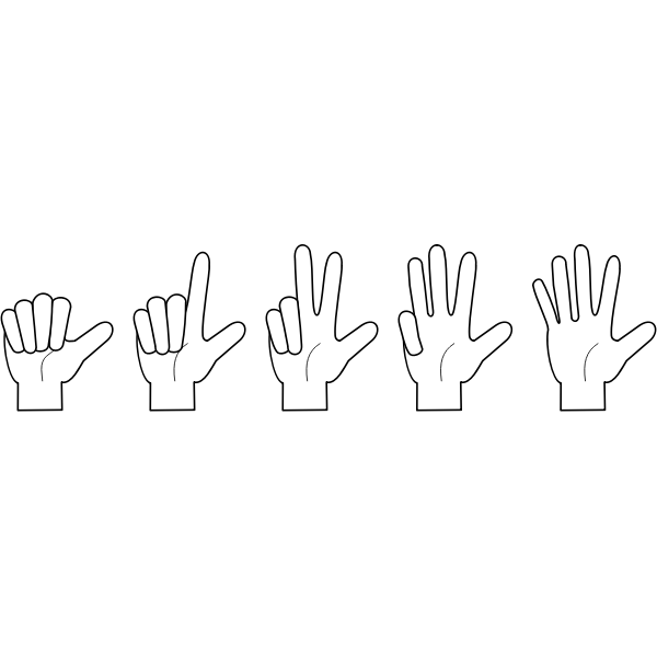 compter sur les doigts 12345