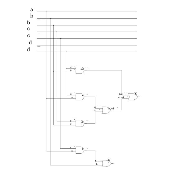 Computer digital circuit vector image