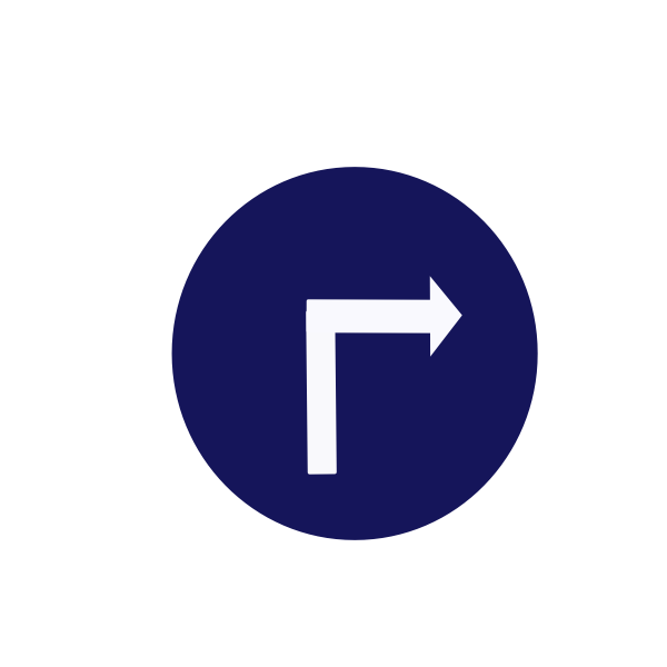 compulsory turn right