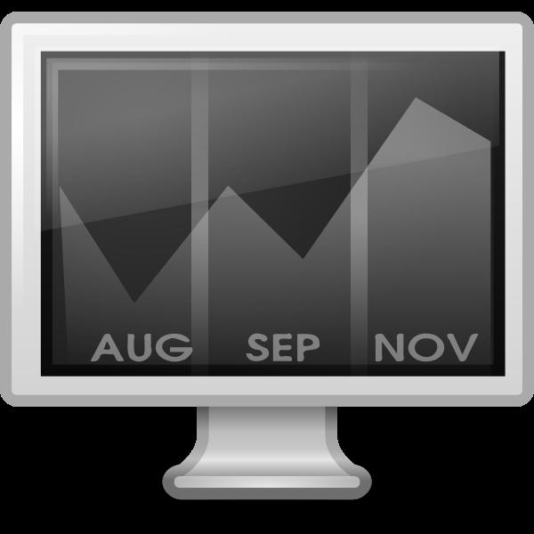 Calendar on computer screen vector image
