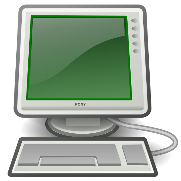 Pony green desktop computer vector image