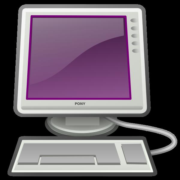 Pony desktop computer vector image