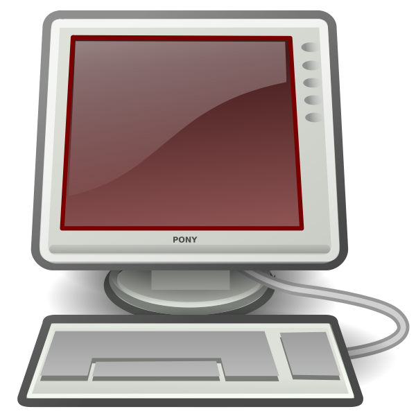 Pony red desktop computer vector image