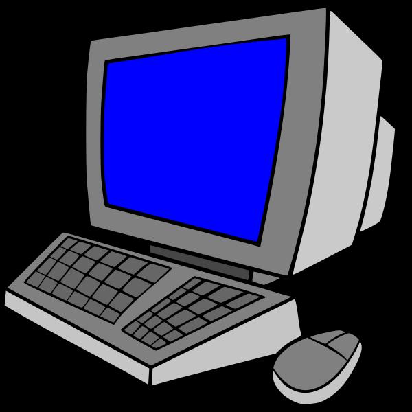 Desktop computer cartoon art