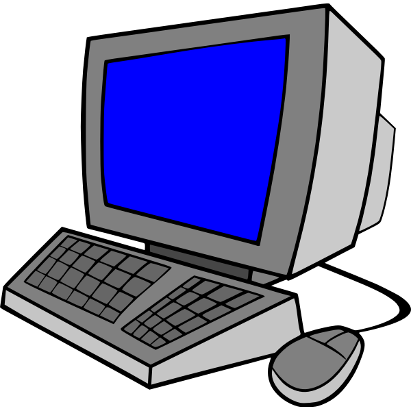 Desktop computer cartoon art