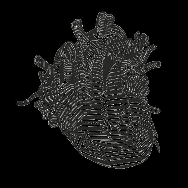 Heart silhouette monochrome