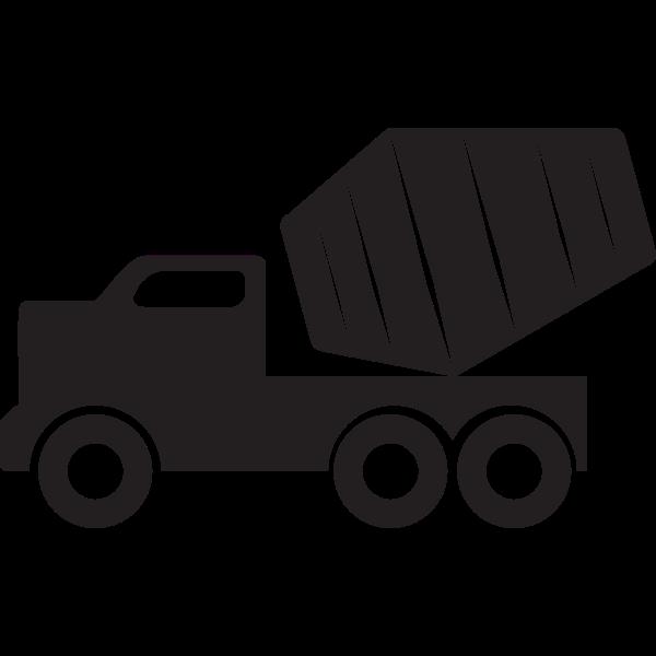Vector graphics of concrete mixer truck
