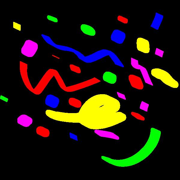 Color confetti vector illustration