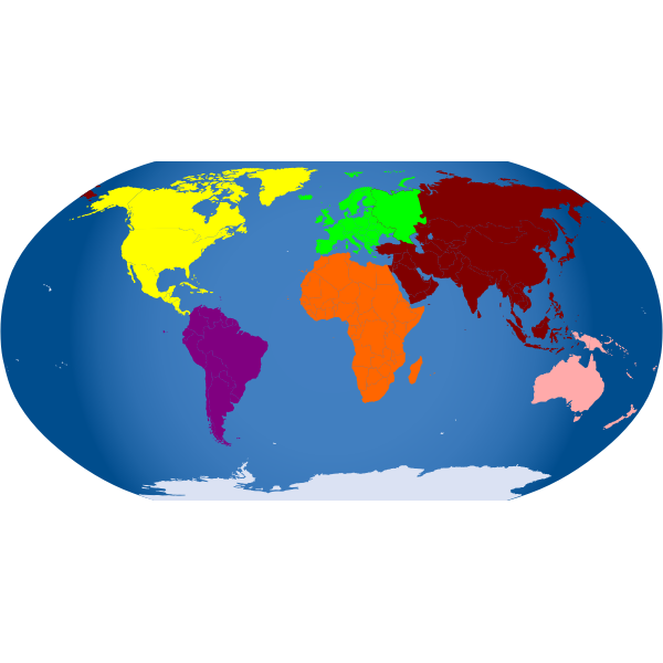 Colored map of the world vector illustration