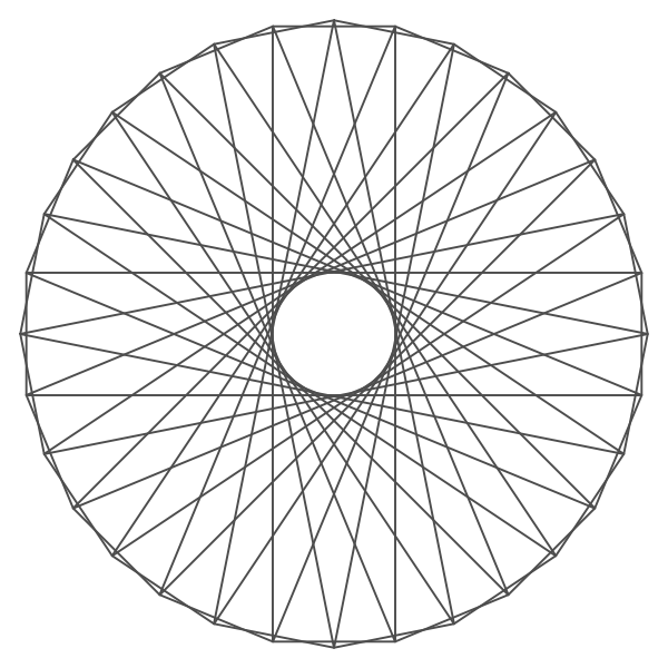 Guilloche shape vector graphics