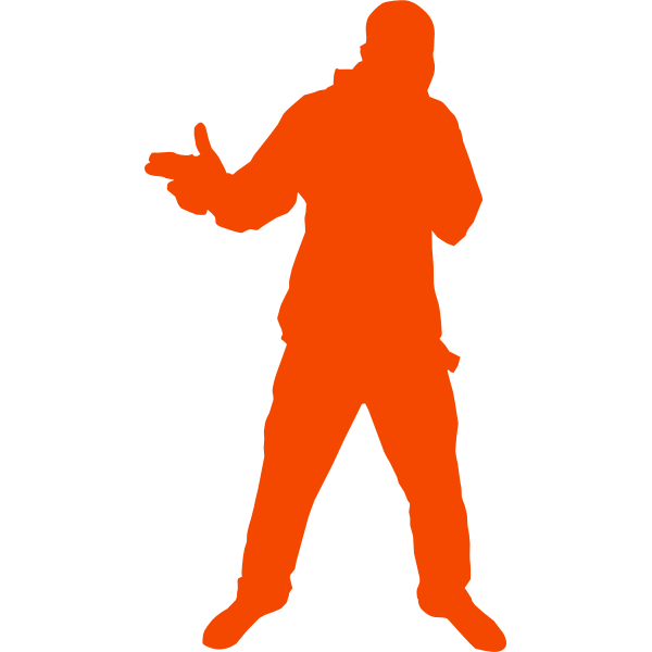 Silhouette of cool dude vector clip art