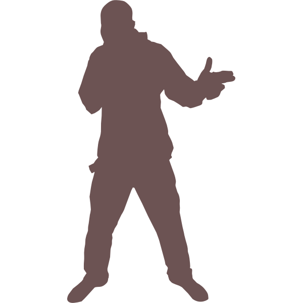 Silhouette of cool dude vector drawing