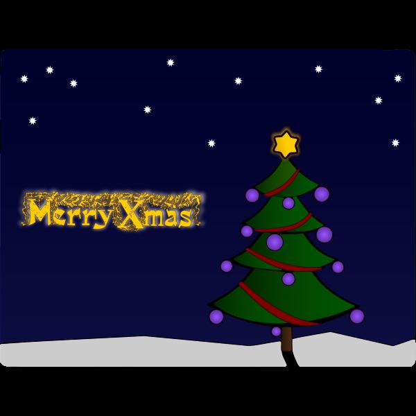 Colour Christmas Tree Card