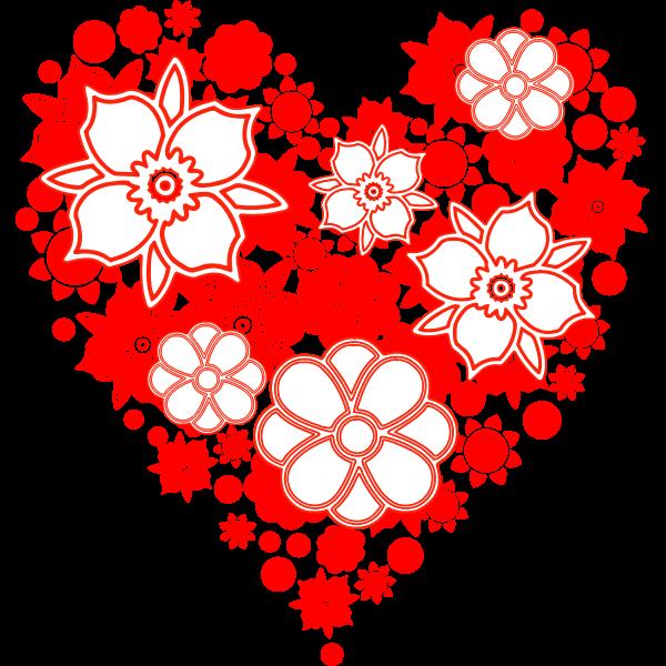 coracao flores
