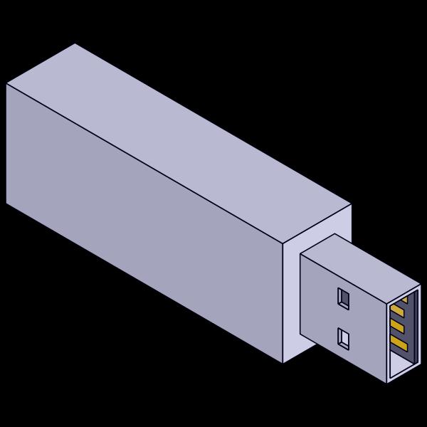 Isometric USB stick vector graphics