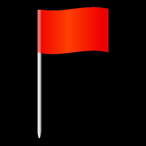 Corner flag in football vector illustration