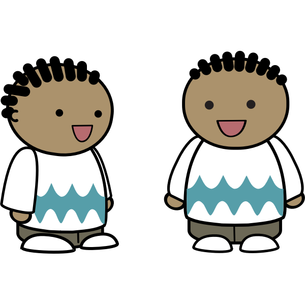 Vector drawing of cornrows characters