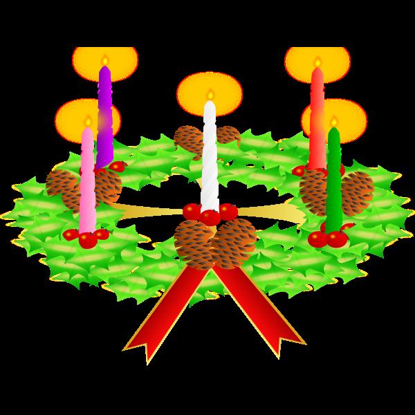 Advent wreath vector
