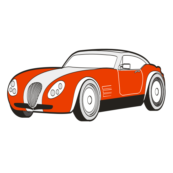 Old car vector color drawing