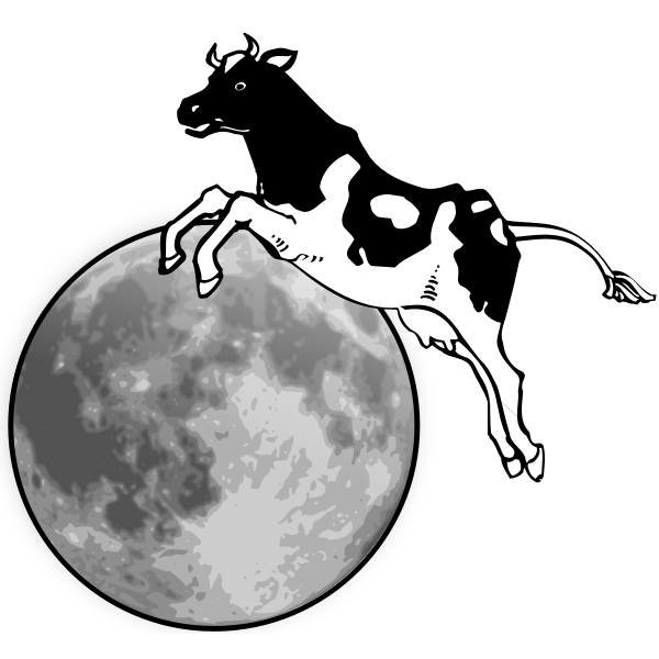 Farmanimal Icons: Cow And Moon