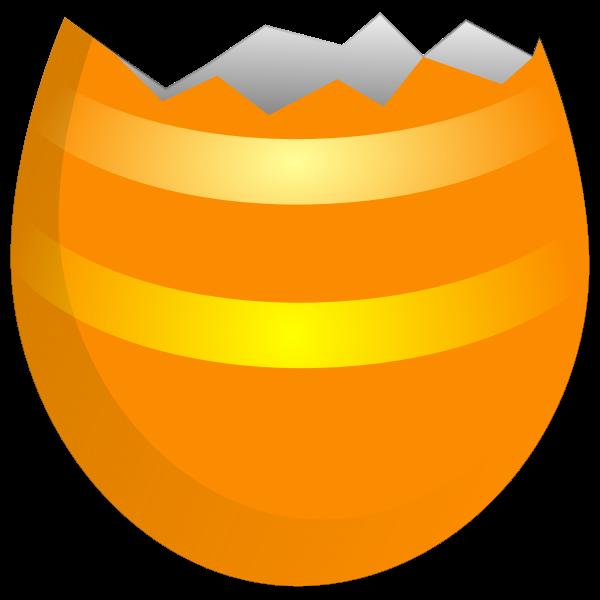 Cracked Easter egg vector clip art